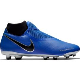 Buty piłkarskie Nike Phantom Vsn Academy Df FG/MG M AO3258 400 niebieskie