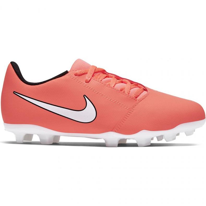 Buty piłkarskie Nike Phantom Venom Club Fg Jr AO0396-810 pomarańczowe pomarańczowe