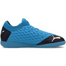 Buty halowe Puma Future 5.4 It Jr 105814 01 niebieskie