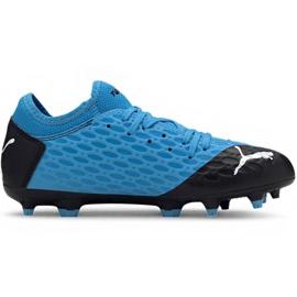 Buty piłkarskie Puma Future 5.4 Fg Ag Jr 105810 01 niebieskie
