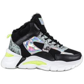 Bella Paris Sneakersy Z Efektem Holo czarne