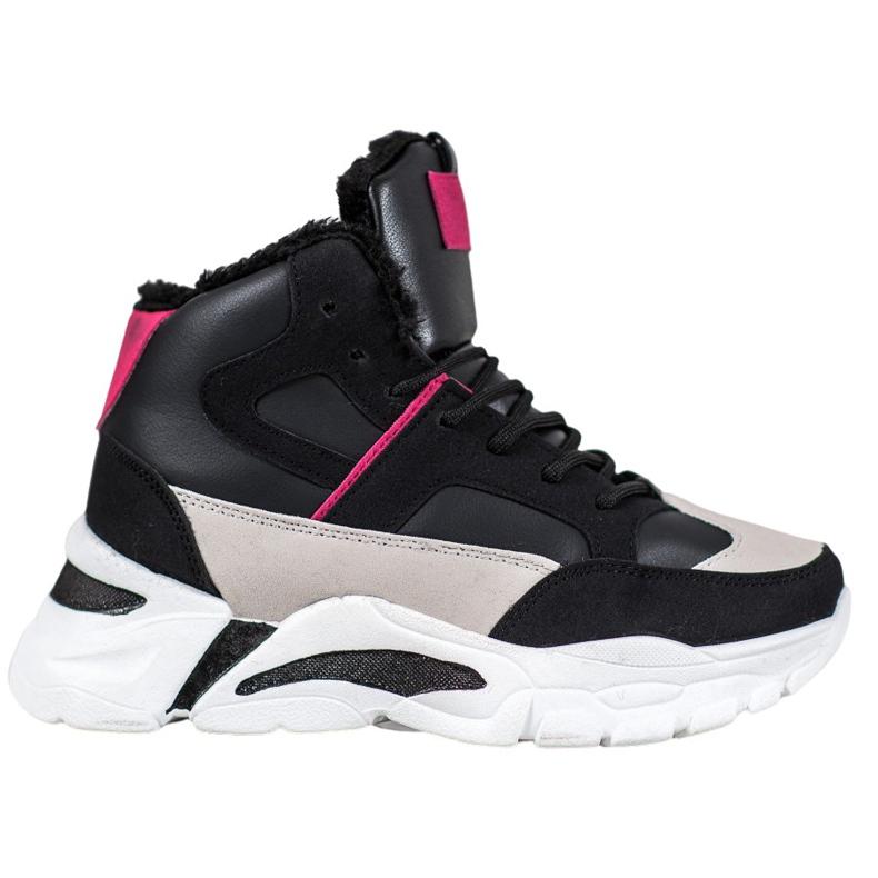 Bella Paris Sneakersy Z Futerkiem