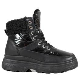 Bella Paris Sneakersy Z Kożuszkiem czarne