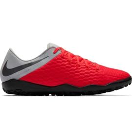 Buty piłkarskie Nike Hypervenom Phantom X 3 Academy Tf M AJ3815 600 czarny, czerwony, szary/srebrny czerwone