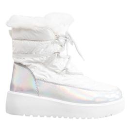 Bella Paris Śniegowce Fashion białe
