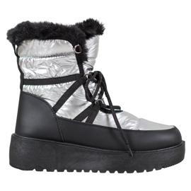 Bella Paris Śniegowce Fashion szare