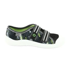 Befado obuwie dziecięce  672Y069 czarne szare zielone