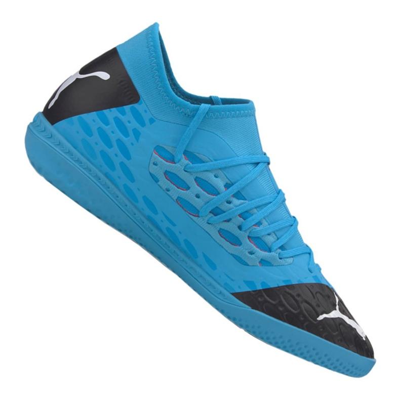 Buty halowe Puma Future 5.3 Netfit It M 105799-01 niebieskie niebieskie