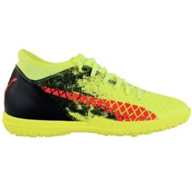Buty piłkarskie Puma Future 18.4 Tt M 104339 01 czarny, zielony, pomarańczowy żółte