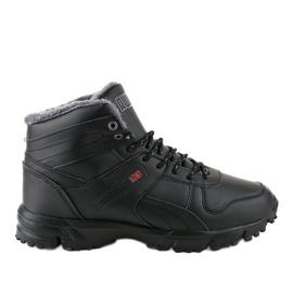 Czarne ocieplane buty sportowe trapery MC783-1