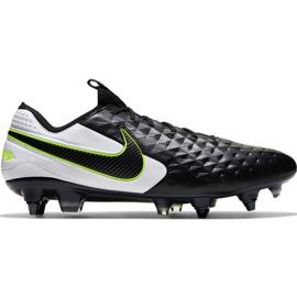 Buty piłkarskie Nike Tiempo Legend 8 Elite Sg Pro Ac M AT5900 007 czarne biały, czarny, zielony