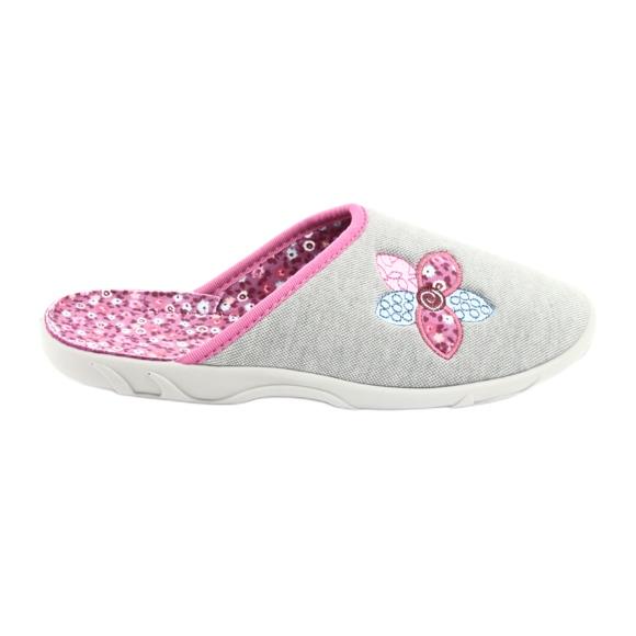 Befado kolorowe obuwie damskie 235D155 szare