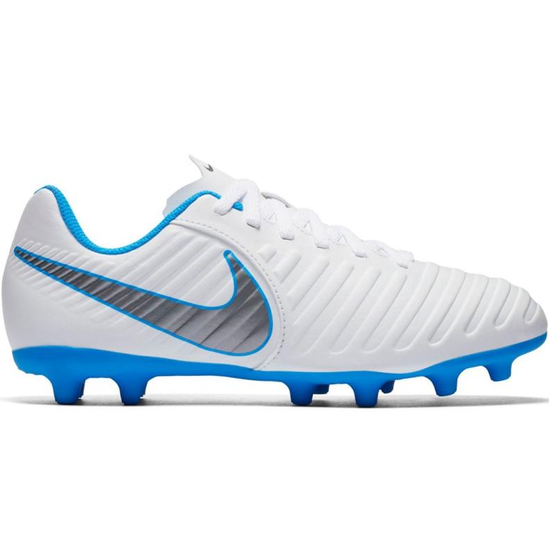 Buty piłkarskie Nike Tiempo Legend 7 Club Fg Jr AH7255 107 białe wielokolorowe