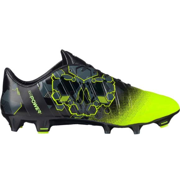 Buty piłkarskie Puma evoPOWER 1.3 Graphic Fg M 103769 01 wielokolorowe czarny, zielony