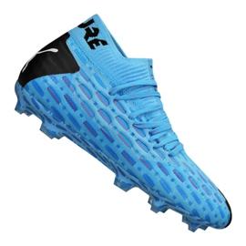 Buty piłkarskie Puma Future 5.1 Netfit Fg / Ag Jr 105805-01 niebieskie niebieski