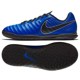 Buty piłkarskie Nike Tiempo Legend 7 Club Ic Jr AH7260 400 niebieskie granatowy