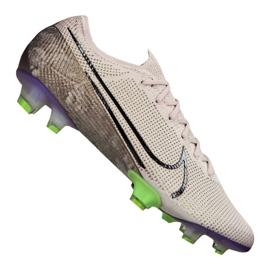 Buty piłkarskie Nike Vapor 13 Elite Fg M AQ4176-005 biały, szary/srebrny szare