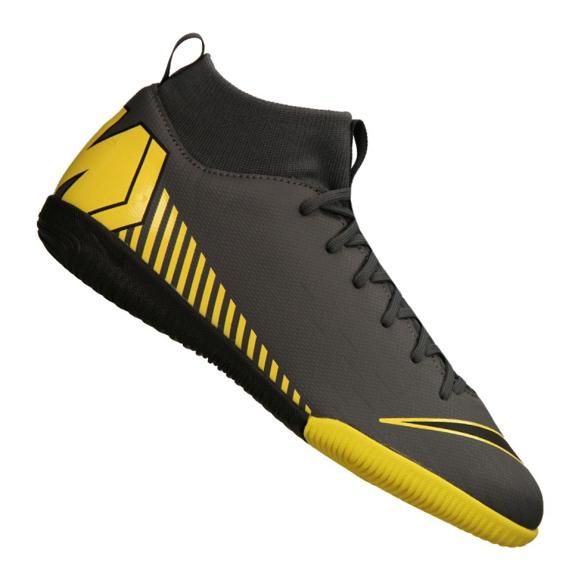 Buty halowe Nike Mercurial SuperflyX 6 Academy Gs Ic Jr AH7343-070 szare czarny, żółty