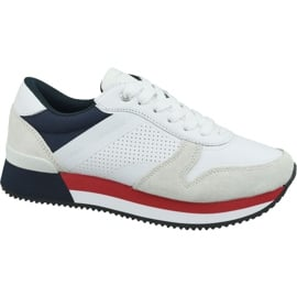 Buty Tommy Hilfiger Active City Sneaker W FW0FW04304 020 białe czerwone granatowe