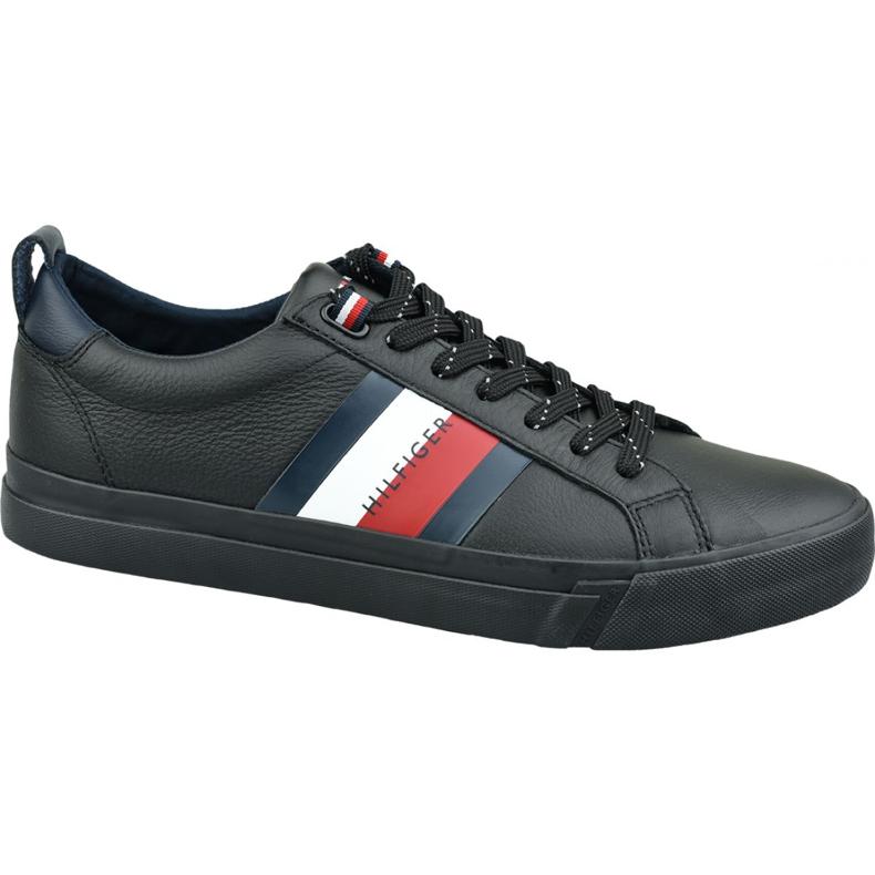 Buty Tommy Hilfiger Flag Detail Leather Sneaker M FM0FM02576 Bds czarne
