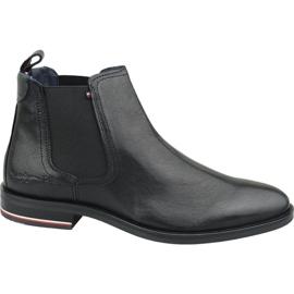 Buty Tommy Hilfiger Signature Leather Chelsea Boots M FM0FM02421 990 czarne