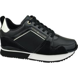Buty Tommy Hilfiger Leather Wedge Sneaker W FW0FW04420 990 czarne