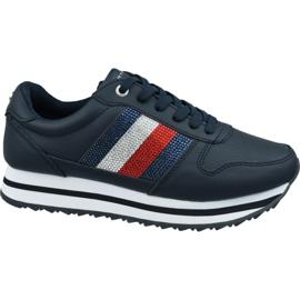 Buty Tommy Hilfiger Tommy Retro Crystal Sneaker W FW0FW04683 Cki granatowe
