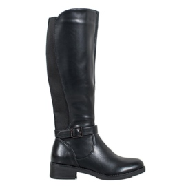 Ideal Shoes Klasyczne Oficerki czarne