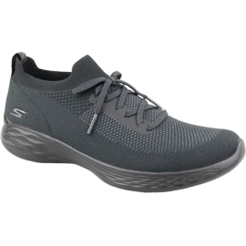 Buty Skechers You Shine Trainers W 14957-BKGY szare