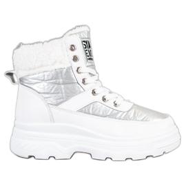 Bella Paris Sneakersy Z Kożuszkiem białe
