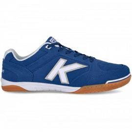Buty halowe Kelme Precision Indoor 55211 0703 niebieskie niebieski