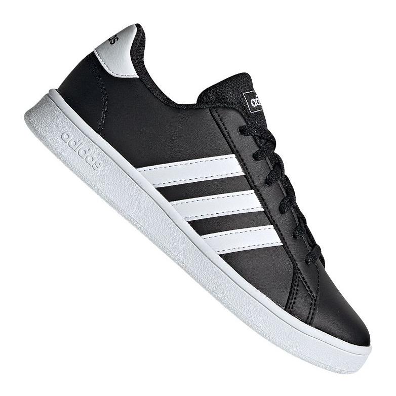 Buty adidas Grand Court Jr EF0102 czarne