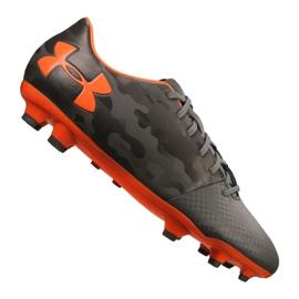 Buty piłkarskie Under Armour Spotlight Dl Fg M 1289534-101 szare szary, pomarańczowy