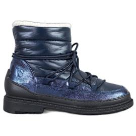 Tekstylne Śniegowce VICES niebieskie
