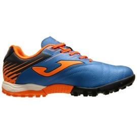 Buty piłkarskie Joma Toledo 2004 Fg Jr TOJS.2004.TF niebieski, pomarańczowy niebieskie