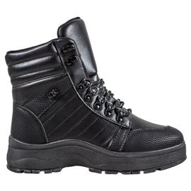 Yes Mile Czarne Sneakersy Na Platformie