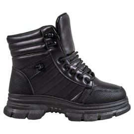 SHELOVET Ocieplane Sneakersy czarne
