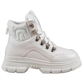 SHELOVET Ocieplane Sneakersy białe