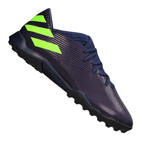 Buty adidas Nemeziz Messi 19.3 Tf M EF1809 fioletowe fioletowy, zielony