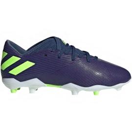 Buty piłkarskie adidas Nemeziz Messi 19.3 Fg Jr EF1814 fioletowe żółte