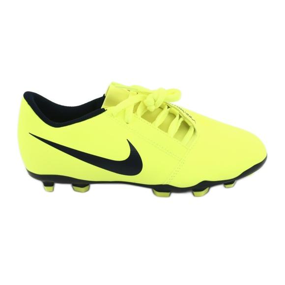 Buty piłkarskie Nike Phantom Venom Club Fg Jr AO0396-717 żółte