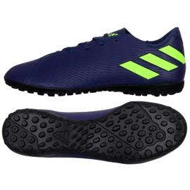 Buty adidas Nemeziz Messi 19.4 Tf M EF1805 granatowe granatowy