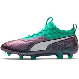 Buty piłkarskie Puma One 1 Il Lth Fg Ag M 104925 01 zielone