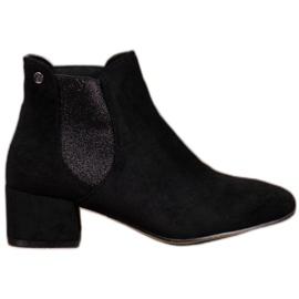 Ideal Shoes Sztyblety Z Brokatem czarne