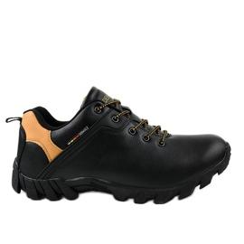 Czarne obuwie trekkingowe 2019A