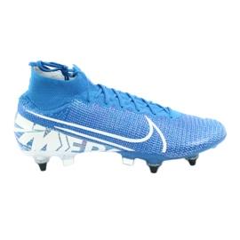 Buty piłkarskie Nike Mercurial Superfly 7 Elite SG-Pro Ac M AT7894-414 niebieskie