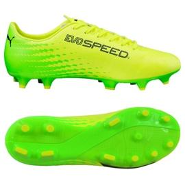 Buty piłkarskie Puma Evo Speed 17.4 Fg M 104017 01 żółte zielony, żółty