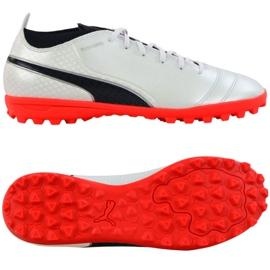 Buty piłkarskie Puma One 17.4 Tt M 104078 01 białe białe