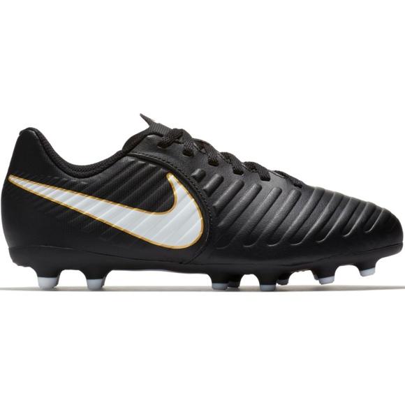 Buty piłkarskie Nike Tiempo Rio Iv Fg Jr 897731-002 czarne czarny