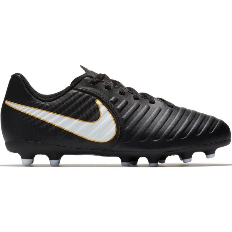 Buty piłkarskie Nike Tiempo Rio Iv Fg Jr 897731-002 czarne czarne